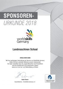 World Skills Germany Landmaschinen Schaal