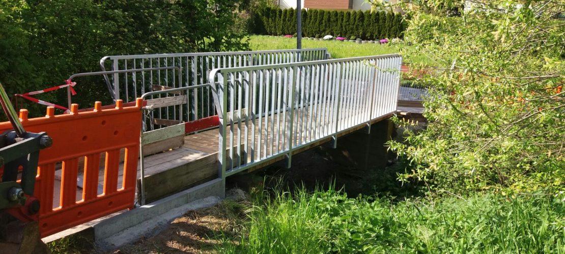 Brücke Ditzingen eingebaut